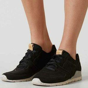 UGG Tye Casual Leather Sneakers Size 9 Black